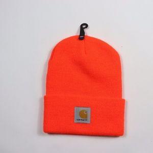 New Carhartt Spell Out Winter Beanie Hat Orange